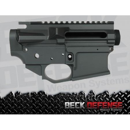 BECK DEFENSE STRIPPED UPPER/LOWER RECEIVER SET ---BILLET---