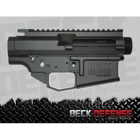 BECK DEFENSE STRIPPED UPPER/LOWER RECEIVER SET ---BILLET---.308