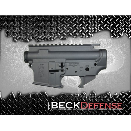 BECK DEFENSE STRIPPED UPPER/LOWER RECEIVER SET----FORGED----
