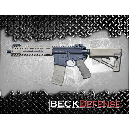 "BECK DEFENSE M4-C  300 BLACKOUT RIFLE---BILLET---9"" BARREL"